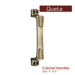 Brass Finish Cabinet Handle, Size: 4 And 6 8