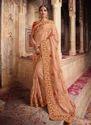Art Silk Heavy Work Reception Wear Sarees