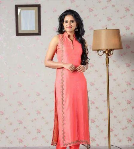 e3d0cfc720 Red Casual Wear Casual Salwar Suit, Aham Designer Boutique | ID ...
