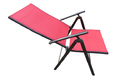 Folding Reclining Chair-7 Stage-Elegent-2 Fold-Red