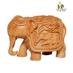 Wooden Royal Elephant Statue