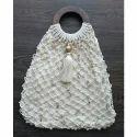 White Party Wear Handmade Fancy Bag