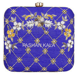 Hand Embroidery Beaded Clutch Purse for Women Party