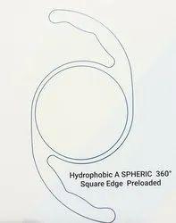 A Spheric Hydrophobic Intra Ocular lens PRE LOADED