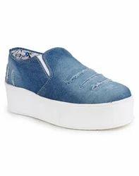 Pvc Girls Denim Jeans Casual Shoes, Rs