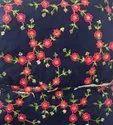 Raw Silk Embroidered Fabrics