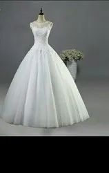 Ladies Bridal White Gown