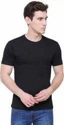 Plain For Men,Black Round Neck Men T Shirt