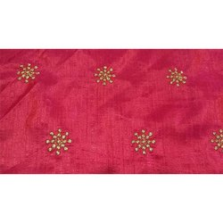Red Jacquard Designer Fabric