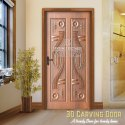 Wpc Hinged 3d Door, Thickness: 24 - 48mm