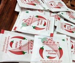 Ransh Chili Flake Chilli Flakes Sachet, Packaging Size: 0.7 GRAM