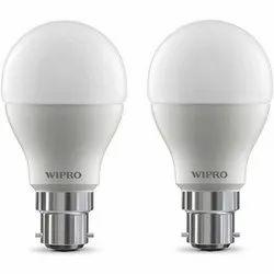 Aluminum Round Wipro LED Bulb, Base Type: E27