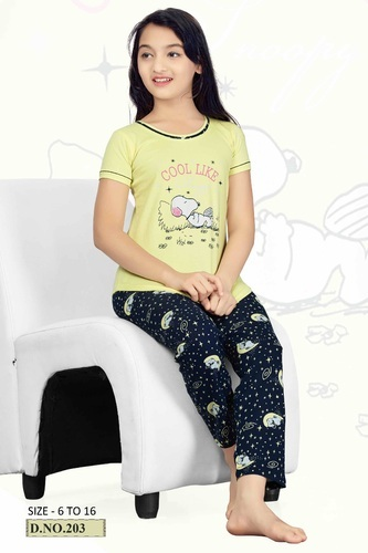 d7bd46ba030 Girls Hosiery Night Suit at Rs 350  piece