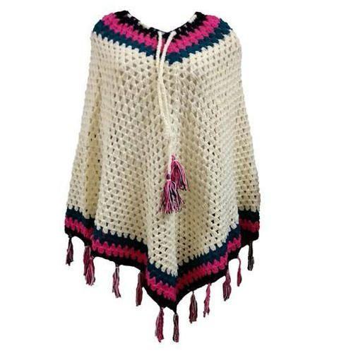 Woolen Elegant Hand Crochet Poncho Size S M L Rs 275 Piece