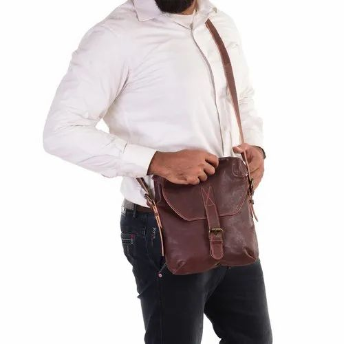Genuine Leather Uni Crossbody Bag