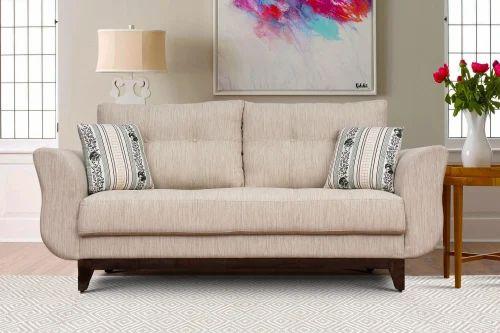 Ibiza 3 Seater Beige Fabric Sofa
