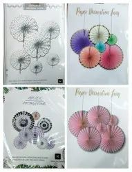 Decorative Paper Fan for Birthday Parties