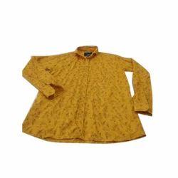 Men Cotton Printed Readymade Shirt