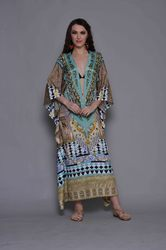 Deep Neck Cut Beach Wear Kaftan