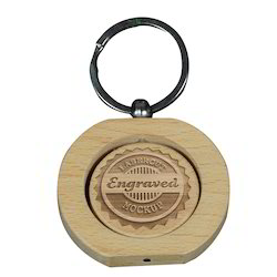Laserable Wooden Curved Keyring