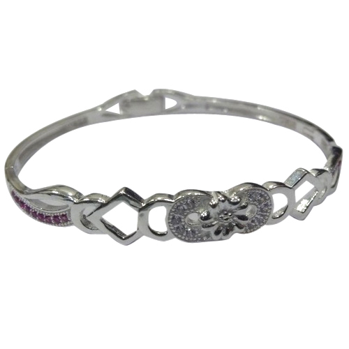 6726126e967b47 Party Wear Ladies Round Silver Bracelets, Size: 2*4 Inches And 2*6 ...