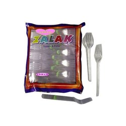 100 Pieces Disposable Plastic Fork, For Event and Party Supplies