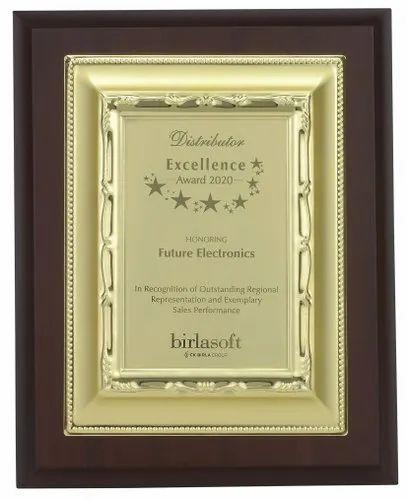 Printed Award Certificate