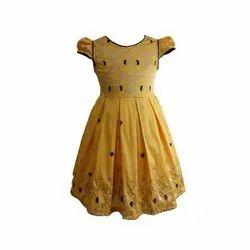 Lycra Cotton Party Wear Girls Trendy Frock
