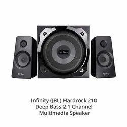 Black Infinity JBL Hardrock 210 Channel Multimedia Speaker, 100 W