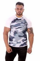 Zesteez Mens Camo Print Dry Fit Tshirt