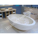 White Brahma Natural Stone Bathtub