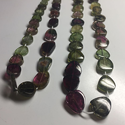 Multi Tourmaline Plain Oval Beads