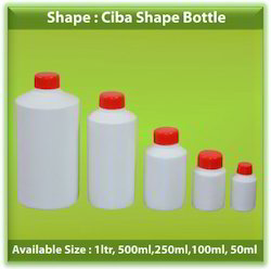 HDPE Ciba Shape Bottles