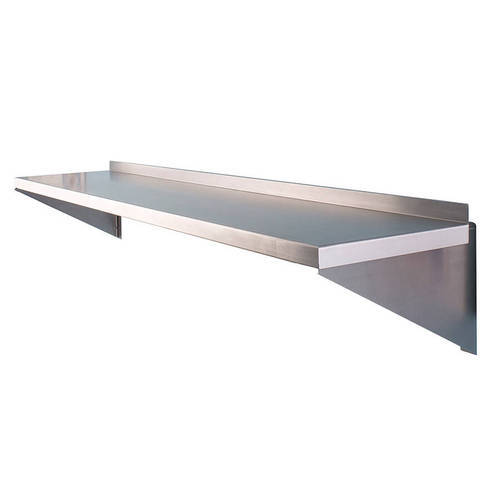 Stainless Steel Powder Coated Ss Wall Shelf Size 1800 X 350 X 350 Mm Rs 6500 Piece Id 17541556312