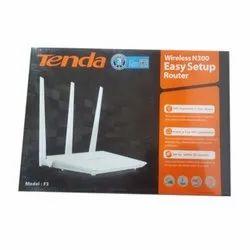 White Tenda Wireless N300 Router, Speed :300 Mbps