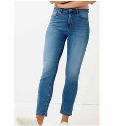 Button Ladies Fancy Denim Jeans