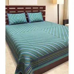 Lehariya Print Double Bedsheet