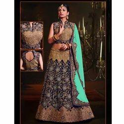 Designer Blue Bridal Lehenga