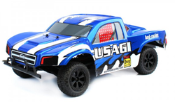 Blue And White 1/10th 2wd B/l Sc Truck Rtr