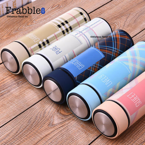 Frabble8 Vacuum Insulated Plaid Series Vacuum Flask