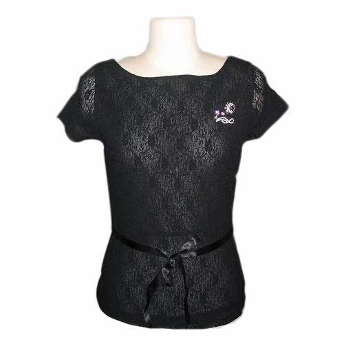 8325fb6f46fd8 Ladies Cotton Black Tops