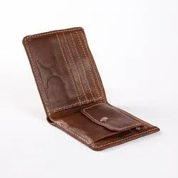 Brown For Mens Mens Foldable Leather Wallet