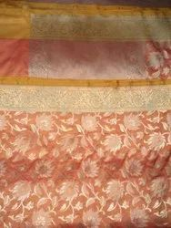 Manzoor Creation Banarasi Cotton Silk Saree, With Blouse, 6.50 m