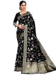 Impressive Art Silk Saree With Blouse By Parvati Fabric (21884)