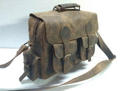 Vintage Leather Office Shoulder Bag