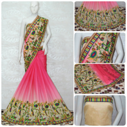 Arrival Chiffon With Shade Effect Saree