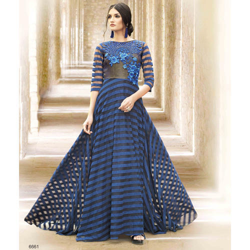 The RCPC Designer Ethnic Brasso Velvet Gown At Rs 4049