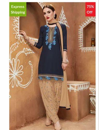 ac7f90de4a Patiala Salwar Suits - Bhelpuri Pista Green Cotton Patiyala Style ...