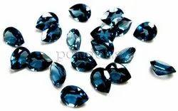 London Blue Topaz Pear Cut Gemstone
