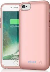 Rose Gold Mobile Phone Case with 2400 mAh Power Bank for iPhone 6/6s/7